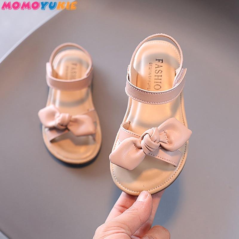 Повседневные Нескользящие мягкие детские босоножки с бантом бабочкой, летние пляжные сандалии с открытым носком для маленьких принцесс в Корейском стиле|Сандалии| | АлиЭкспресс