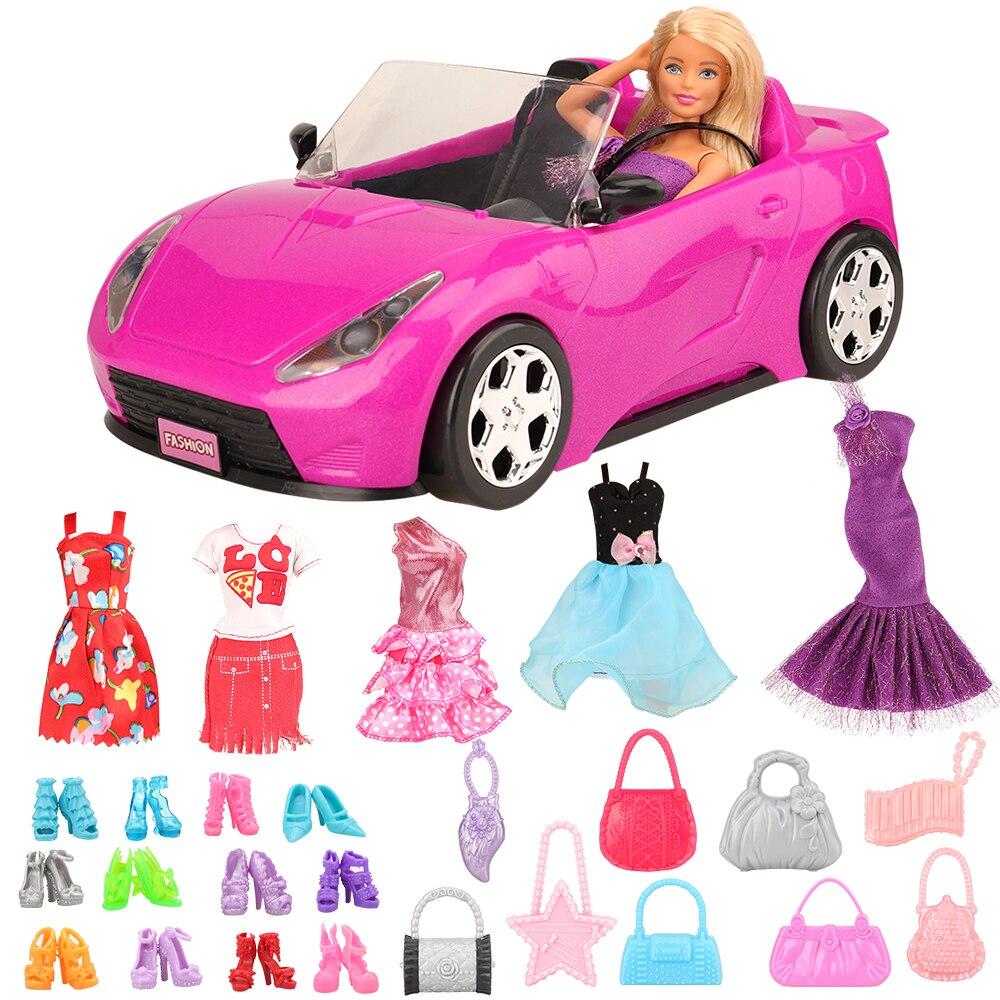 barbie brand limited collect 3 style fashion dolls yoga model toy for little baby birthday gift barbie girl boneca model dhl81 Fashion Handmade 26 Items /lot Kids Toys = Machine Car Toy + 25 Dolls Accessories Shoes For Barbie Game DIY Girl Birthday Gift