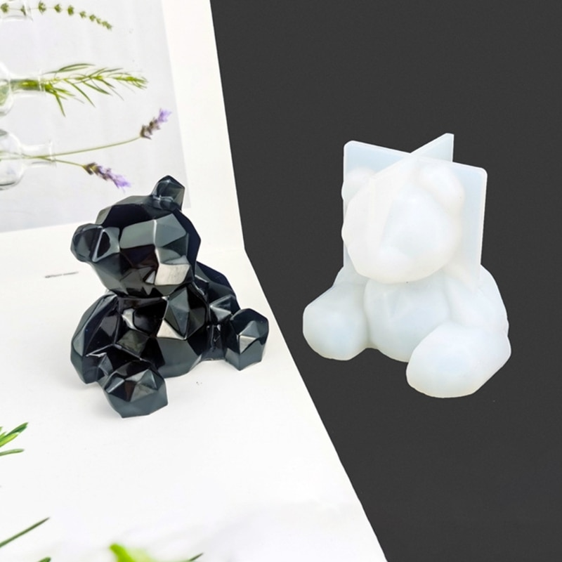 3D медведь украшения эпоксидная смола, форма пластырь для ароматерапии силиконовая форма «сделай сам» ремесла автомобильные подвесные укра...