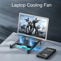padcover portable folding laptop stand with cooling fan colorful light suporte notebook computer gaming bracket holder