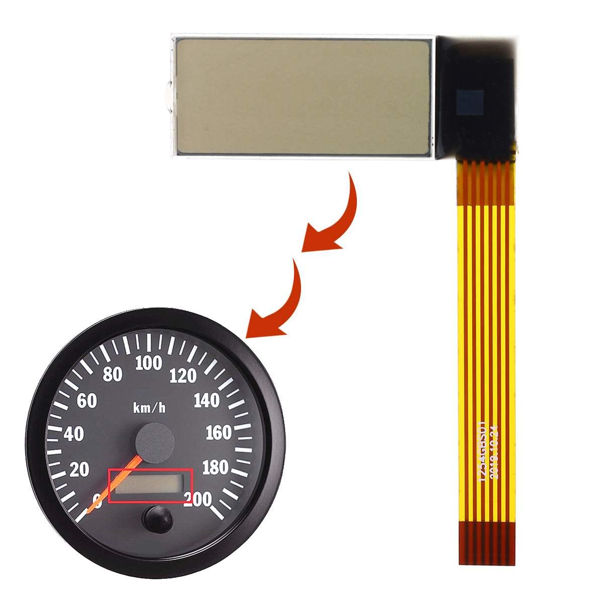 Velocímetro tacómetro LCD pantalla para máxima Kenworth trucks máxima cabina visión Jcb tractor Volvo penta barco 41,5*2,7*15*52mm