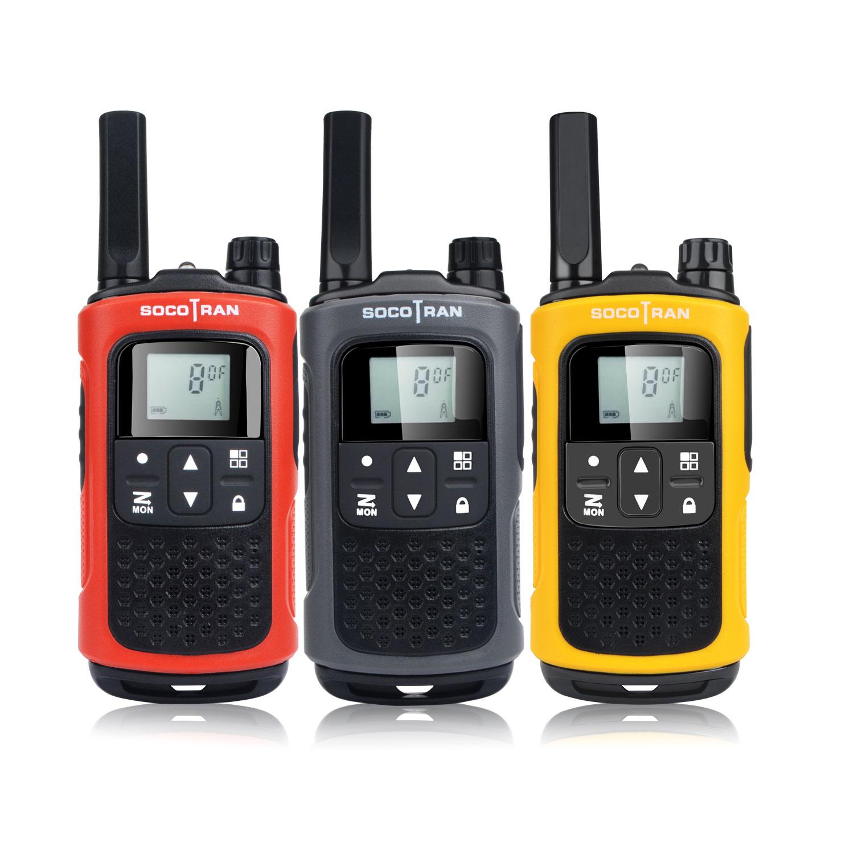 Портативная рация SocoTran PMR 446, сканер кодов конфиденциальности с перезаряжаемой батареей, двухстороннее радио для взрослых и детей