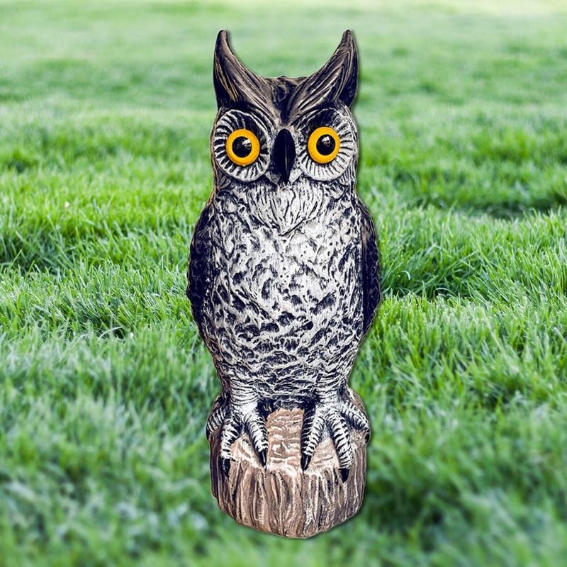 2021 Simulation Owl Statue Garden Ornament Art Resin Craft Landscaping Yard Sculptures Decoration for Home Garden Patio Porch