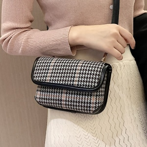 Women Bag Cross Body Designer Bags Famous Brand Women Bags 2020 Houndstooth Hand Shoulder Bag Handbags Crossbody Bags for Women