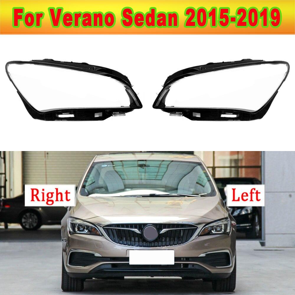 Car Front Headlight Lens Cover For Buick Verano Sedan 2015-2019 Glass Auto Shell Headlamp Lampshade Transparent