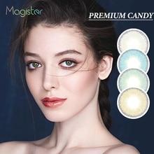 2 шт./пара, премиум класса, Яркие серии, цветные ed контактные линзы, ежегодно макияж для глаз, мягкие линзы, цветные контактные линзы