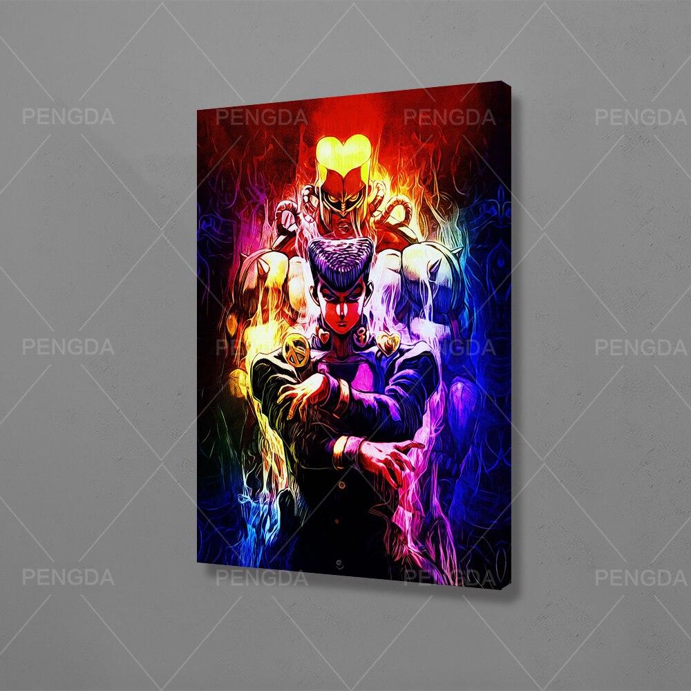 Imagem de casa decoração modular homem bonito monstro canva pintura moderno anime japão fogo impresso cartaz arte da parede sala quadro