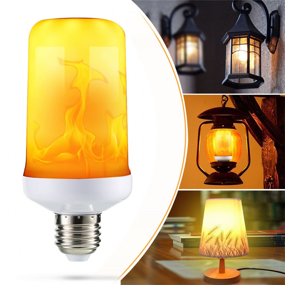 2021 New LED Dynamic Flame Effect Fire Light Bulb E27 B22 E14 LED Corn Bulb Creative Flickering Emul