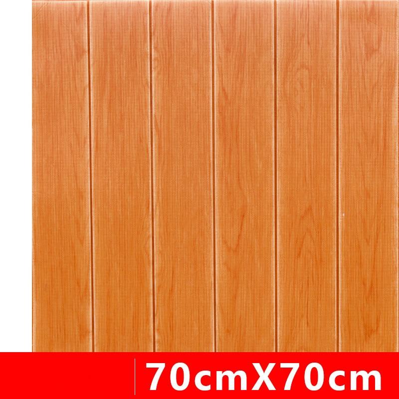 Premium Wood Grain 3D Wall Sticker, Self-Adhesive 3D Wall Panel Elastic Foam Wallpaper Safety Art Wall Decor Easy Clean