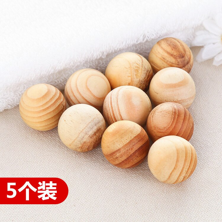 5 pieces of camphor wood insect repellent and moisture-proof wooden ball wardrobe natural camphor tree household bug repellent deodorization mothballs wood 10pcs
