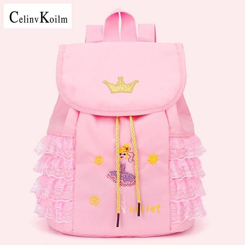 Celinv Koilm Dance Bag Female Large-Capacity School Bag Girl Children Dance Backpack Ballet Latin Fashion Shoulder Dance bags