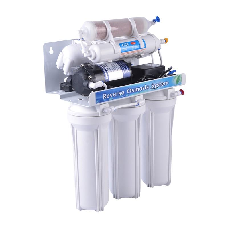 [RO50-A2M] 6 مرحلة عكس فلتر المياه osmose مع مرشح الكرة المعدنية وغشاء RO