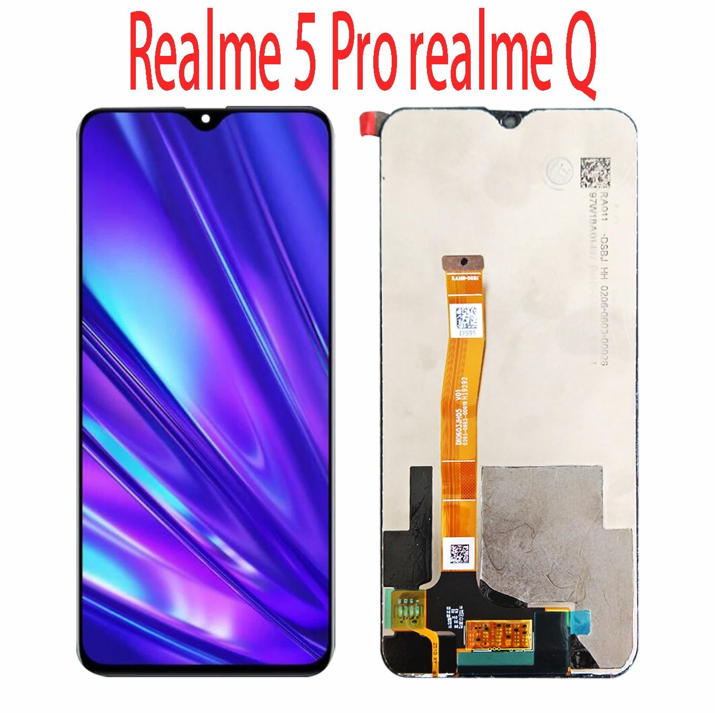 شاشة LCD تعمل باللمس لـ OPPO Realme 5 Pro ، 6.3 بوصة ، بديل لـ Realme Q / realme 5 RMX1911
