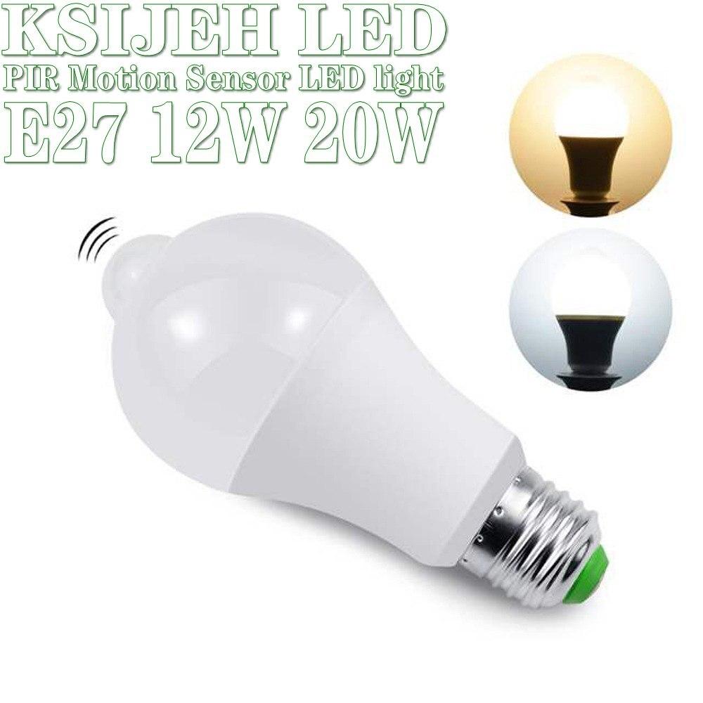15w 18 20w inteligente pir sensor de movimento led luz 110v 220v e27 lâmpada led noite para casa cozinha armário corredor luz