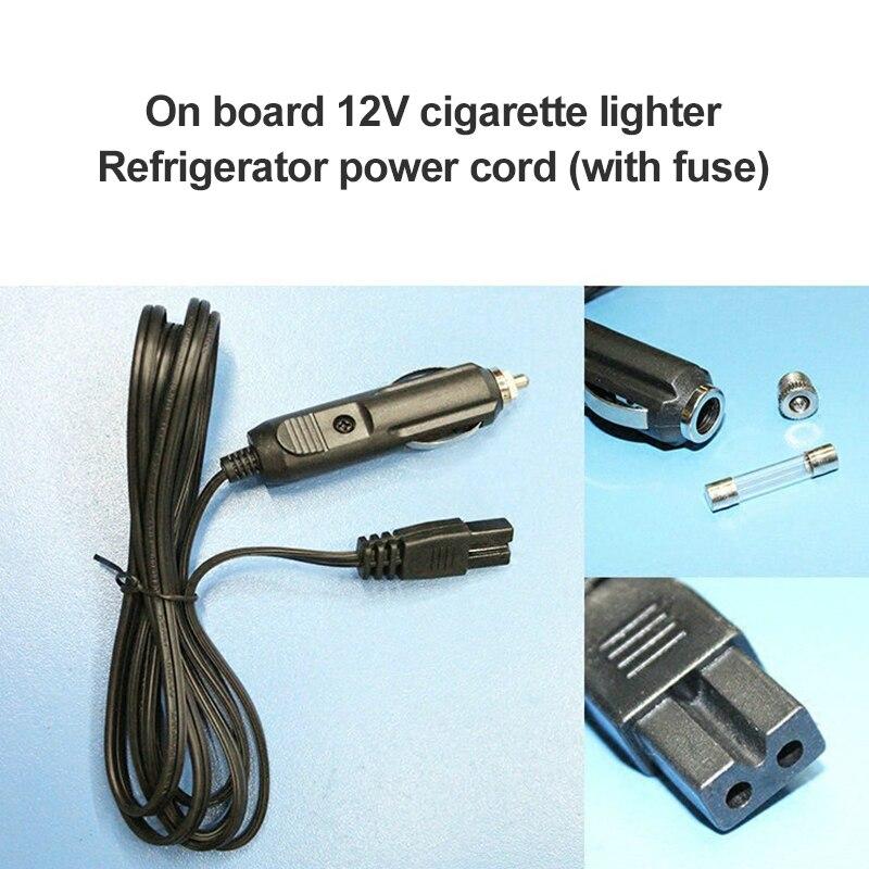 Voiture réfrigérateur 2 broches câble de plomb prise fil 200cm DC 12V remplacement voiture refroidisseur Cool boîte pare-chocs allume-cigare prise voiture accessoires