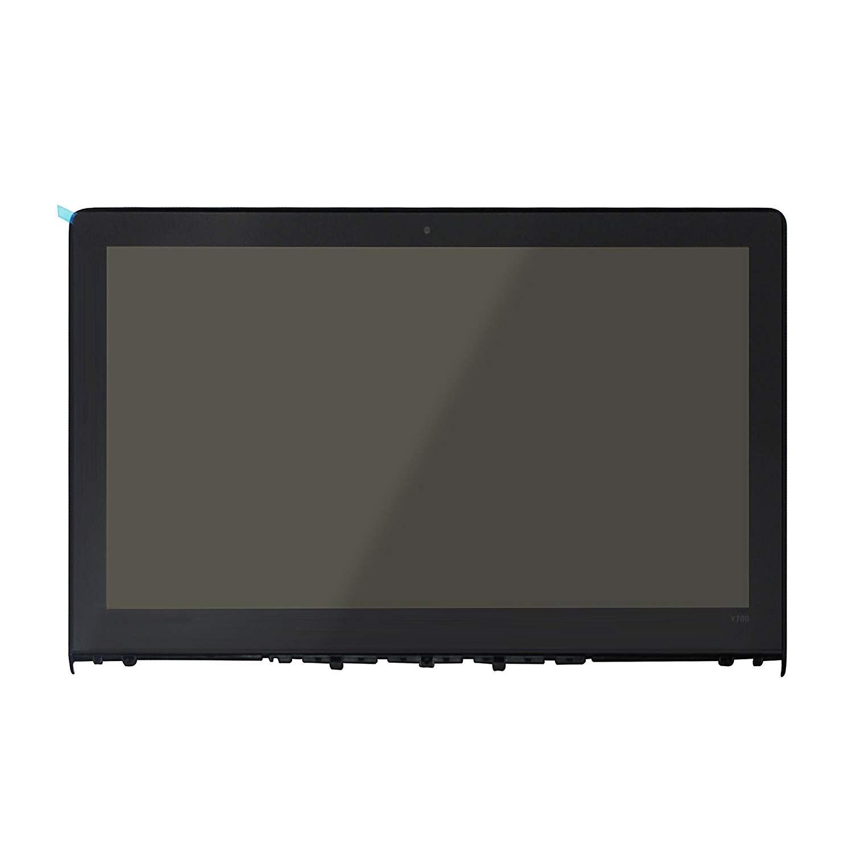 Pantalla LCD LED IPS FullHD de 15,6 pulgadas Montaje de cristal frontal + bisel para Lenovo Ideapad Y700 (no táctil)