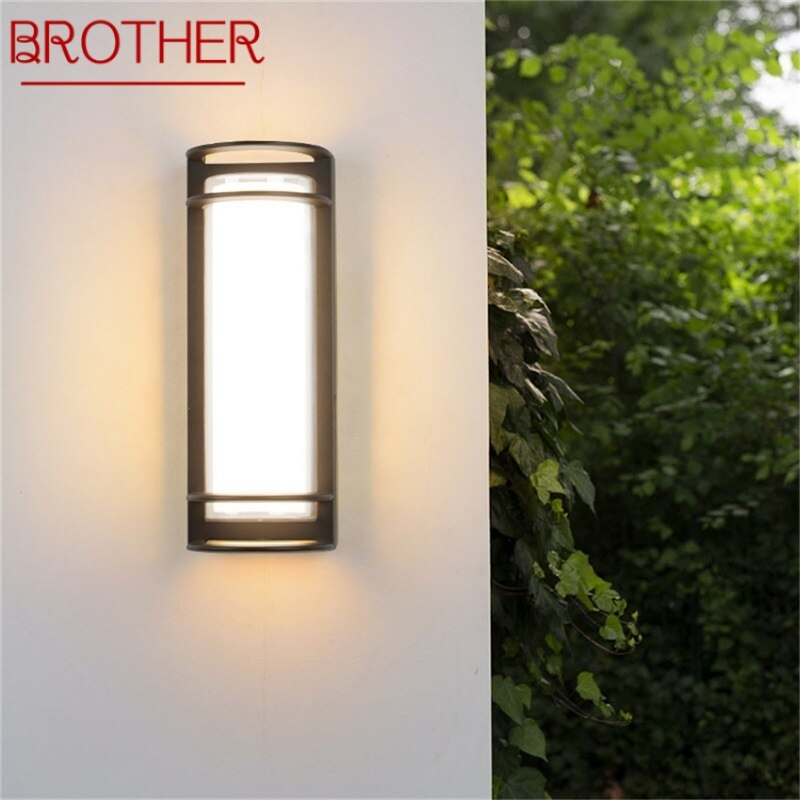 BROTHER Wall Sconces Light Outdoor Classical LED Lamp Waterproof IP65 Home Decorative For Porch Stairs
