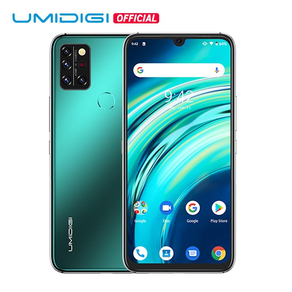 Перейти на Алиэкспресс и купить UMIDIGI A9 Pro глобальная версия 6 ГБ 128 Helio P60 Octa Core 48MP Quad Camera смартфон 24MP селфи 6,3 дюймFHD + безрамочный экран мобильного телефона