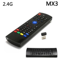universal 2 4g wireless air mouse gyro voice control sensing mini keyboard remote control for pc android tv box double sided