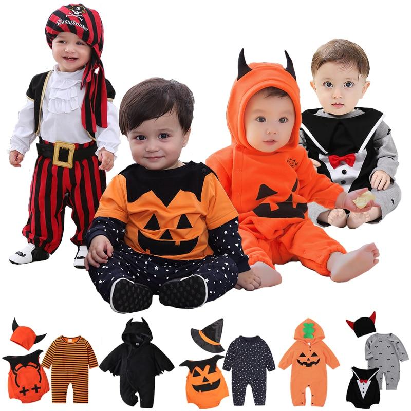 Baby Clothes for Romper Baby Boy Girl Clothes Bat Pumpkin vampire Long Sleeve Kids Newborn Jumpsuit