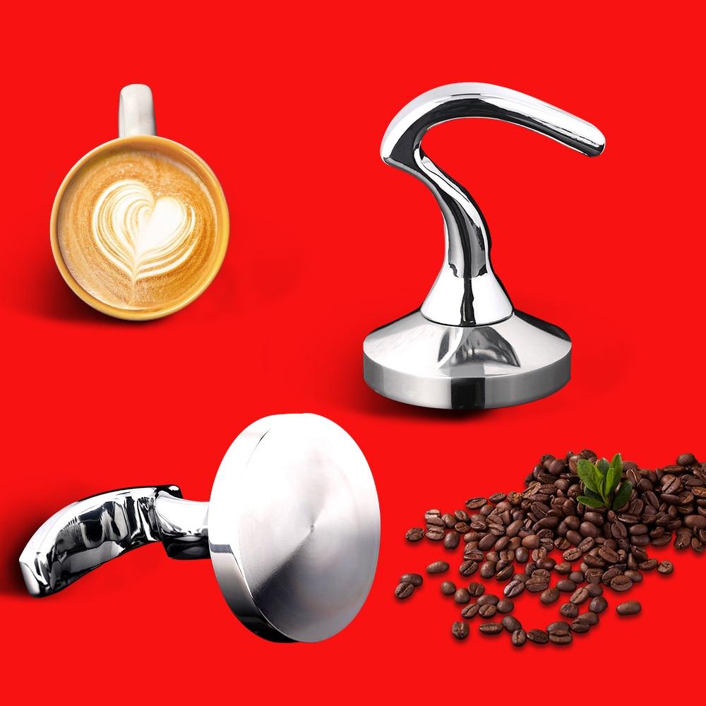 51/54/58MM Breville Delonghi Krups Acero Inoxidable Base plana café en polvo prensa martillo Barista Espresso distribuidor de café