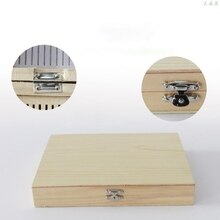 Caja de almacenamiento de diapositivas microscopio Digital 100-Places caja de madera biológica pieza U50A