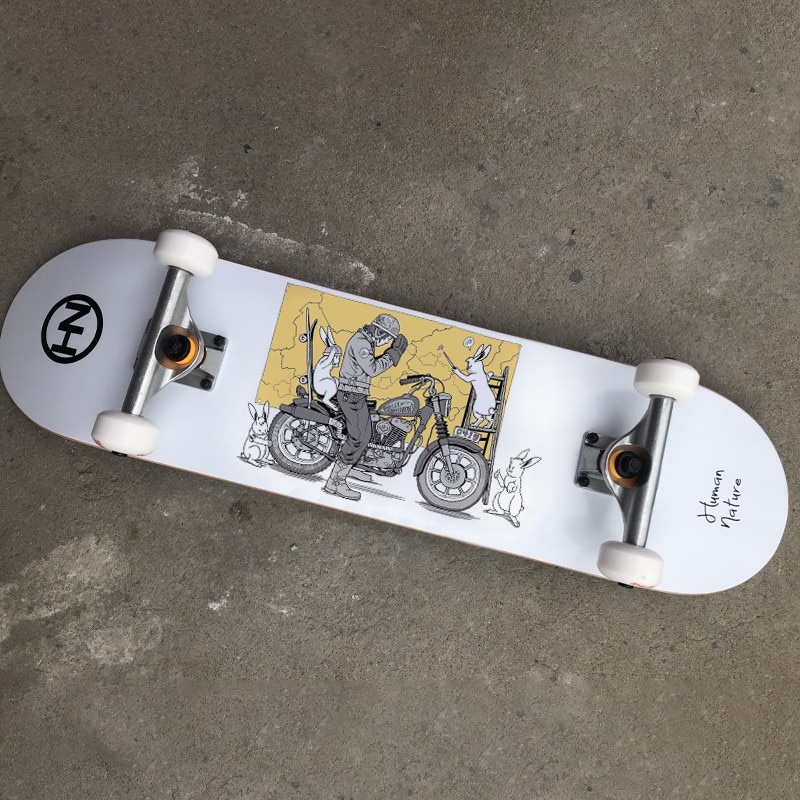 Beginners Luxury Skateboard Hardware Anime Design Griptape Professional Skateboard Complete Tabla Skate Fitness Equipment DK50SB