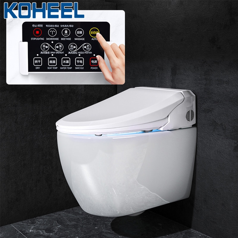 KOHEEL-مقعد مرحاض ذكي ، غطاء بيديت ، مع التنظيف والتجفيف والتدليك الحراري ، مقعد مرحاض FWT03