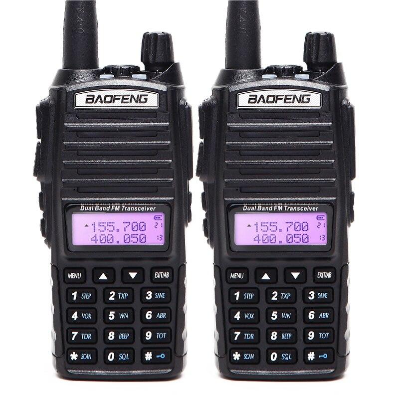 2PCS/  UV-82 5 Watts Walkie Talkie Dual Band VHF/UHF 10km Long Range UV82 Two Way Ham CB Amateur Portable Rado enlarge