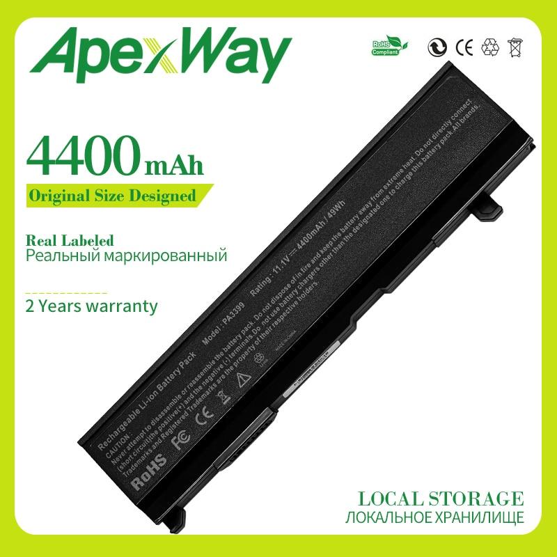 Apexway 4400mAh 10,8 V batería para Toshiba PA3399U-1BAS PA3399U-1BRS PA3399U-2BAS PA3399U-2BRS PA3400U-1BAS PA3400U-1BRL PA3400U