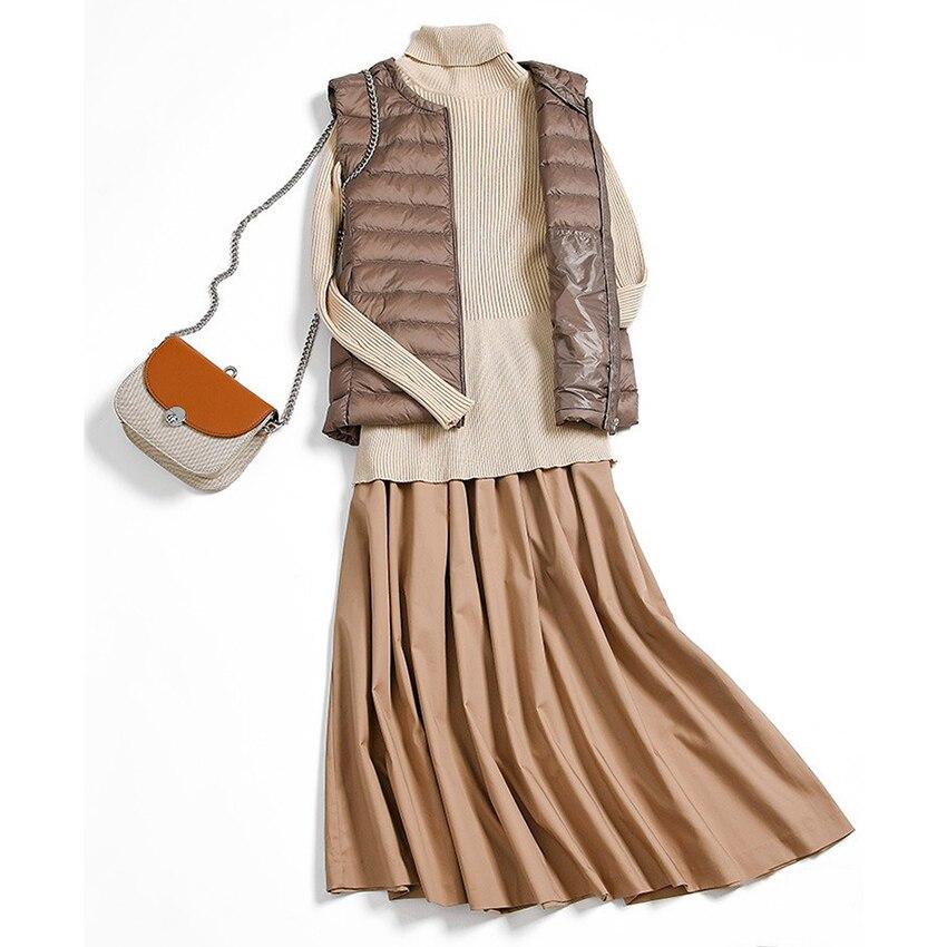 New Fashion Down Vest Women Portable Ultra Light Down Vest Women Sleeveless Waistcoat Winter Warm Coat Outwear