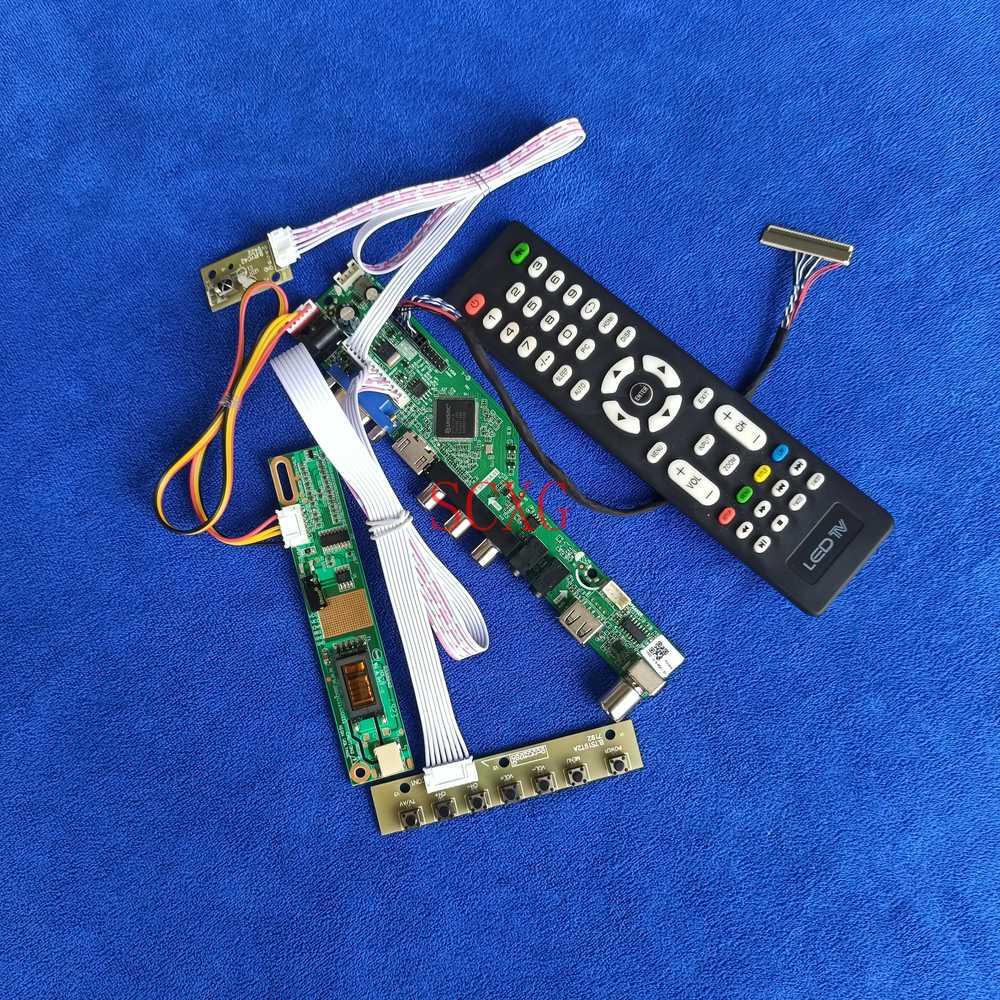 التناظرية ل HT14X19/HT14X1B/IAXG15H/IAXG15S 1CCFL LVDS 30 دبوس HDMI متوافق USB AV راصد بالطيف الضوئي في جي إيه بطاقة وحدة التحكم 1024*768 عدة
