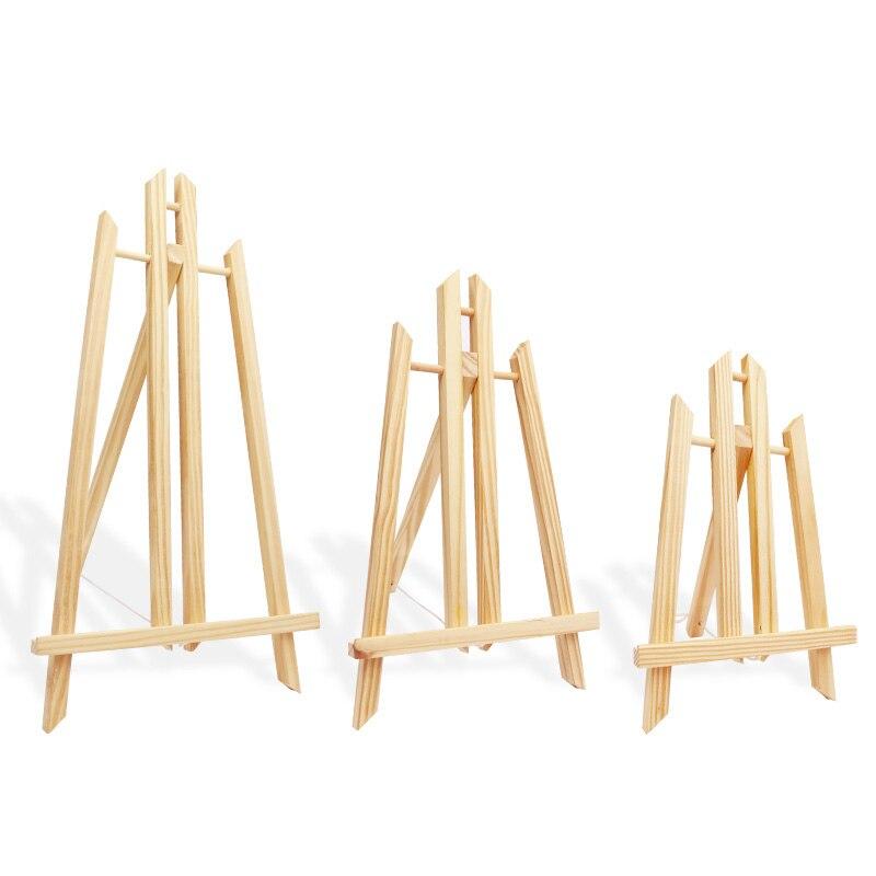 Portable ajustable de madera de viaje Sketch caballete soporte plegable de madera de mesa de boda soporte de exhibición para decoración de fiestas