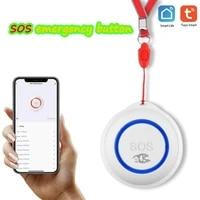 panic button elderly alarm 100dbm sos lanyard button emergency security alarm wifi smart home remote push emergency button