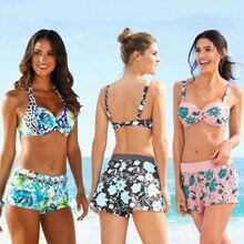 2020 nouveau Sexy Push Up maillot de bain Bikini imprimer maillot de bain femme Bikini licou été plage maillot de bain maillot de bain femmes S-XL