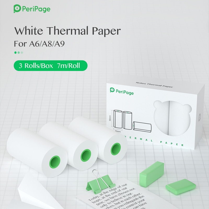 peripage-56x30mm-10-anni-bianco-nota-di-carta-di-registrazione-di-carta-per-tasca-termica-mini-stampante-termica-a6-a8