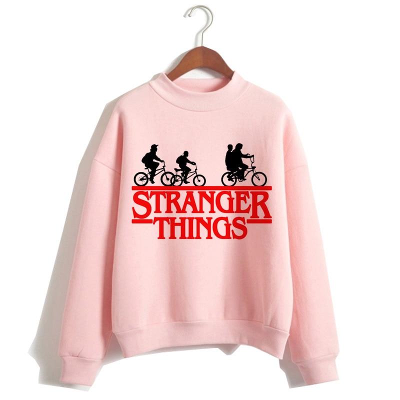 Stranger things women's hoodies Harajuku cartoon hip hop women's sports hoodies autumn and winter fashion hoodies