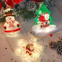 fairy lights christmas decoration santa claus festoon led lights xmas tree ornaments new year battery powered garland navidad