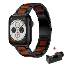 Wooden Red Sandalwood strap for apple watch 6  band 44mm 40mm 42mm 38mm iwatch Apple iWatch5 4 3  St