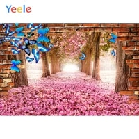spring scenery backdrops wedding forest flowers butterfly photophone photo booth baby photographic backgrounds for photo studio