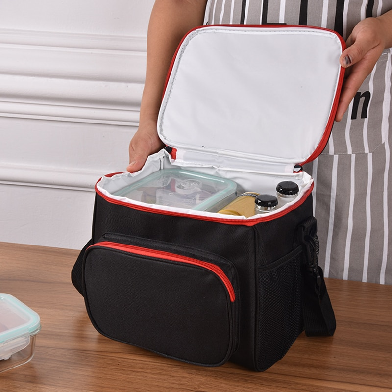 Thermal Insulated Cooler Bags Large Women Men Picnic Lunch Bento Box Trips BBQ Meal Ice Zip Pack Accessories Supplies Products