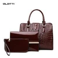 3 in 1 casual large capacity pu leather shoulder bags for women 2021 designer luxury handbags women bags simple crossbody bag