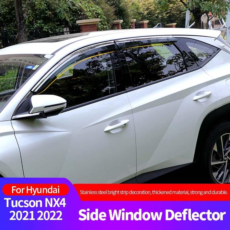 Side Window Deflector For Hyundai Tucson NX4 2021 2022 Acrylic Sun Rain Weather Shield  Car Accessories Auto Parts Accessories