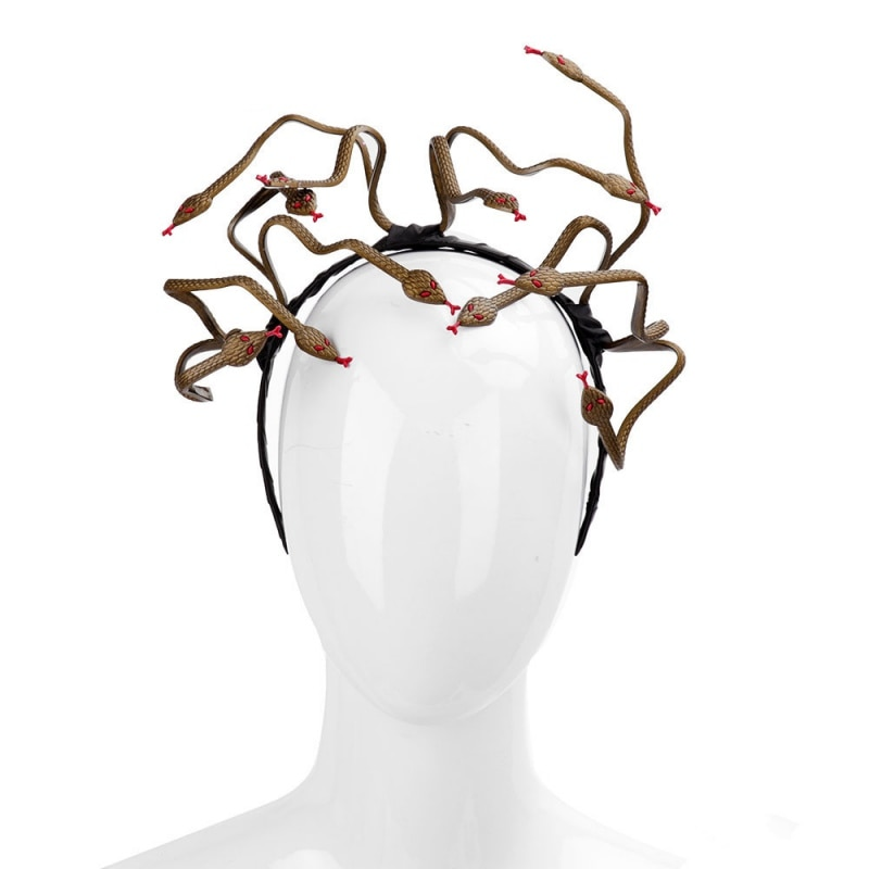 Halloween Horror diadema 3D serpiente diadema Animal fiesta accesorios adornos para el cabello