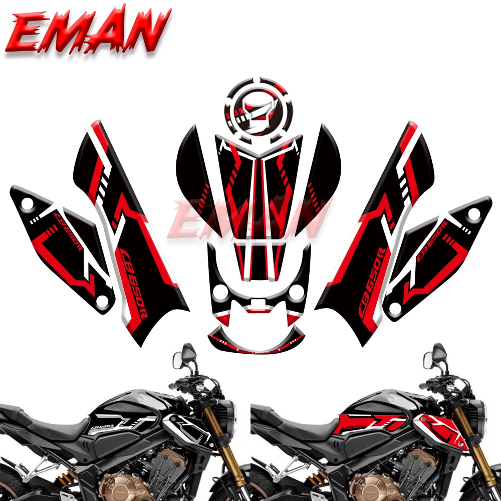 Motorcycle Tank Pad Sticker Protection Stickers Slip Type Decorative stickers For HONDA CB650R CB 650R CB 650 R 2019