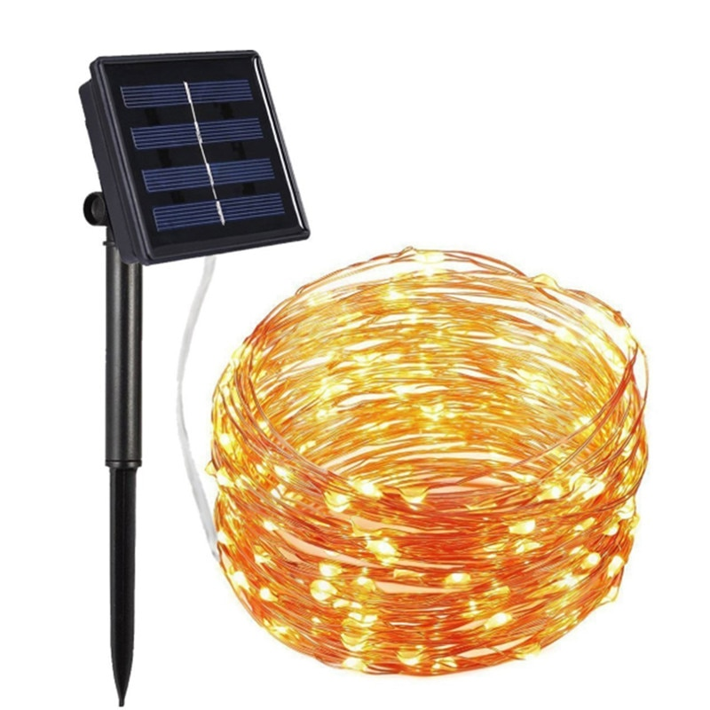 150 LED Waterproof Solar String Lights Fairy Copper Wire String Lights For Restaurant Christmas Wedding Party Home Decoration