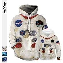Familie Bijpassende Outfits Universe Galaxy 3D Armstrong Ruimte Suite Vader Baby Moeder Zoon Hoodies Kids Sweatshirt T Shirts Ruimte Sets
