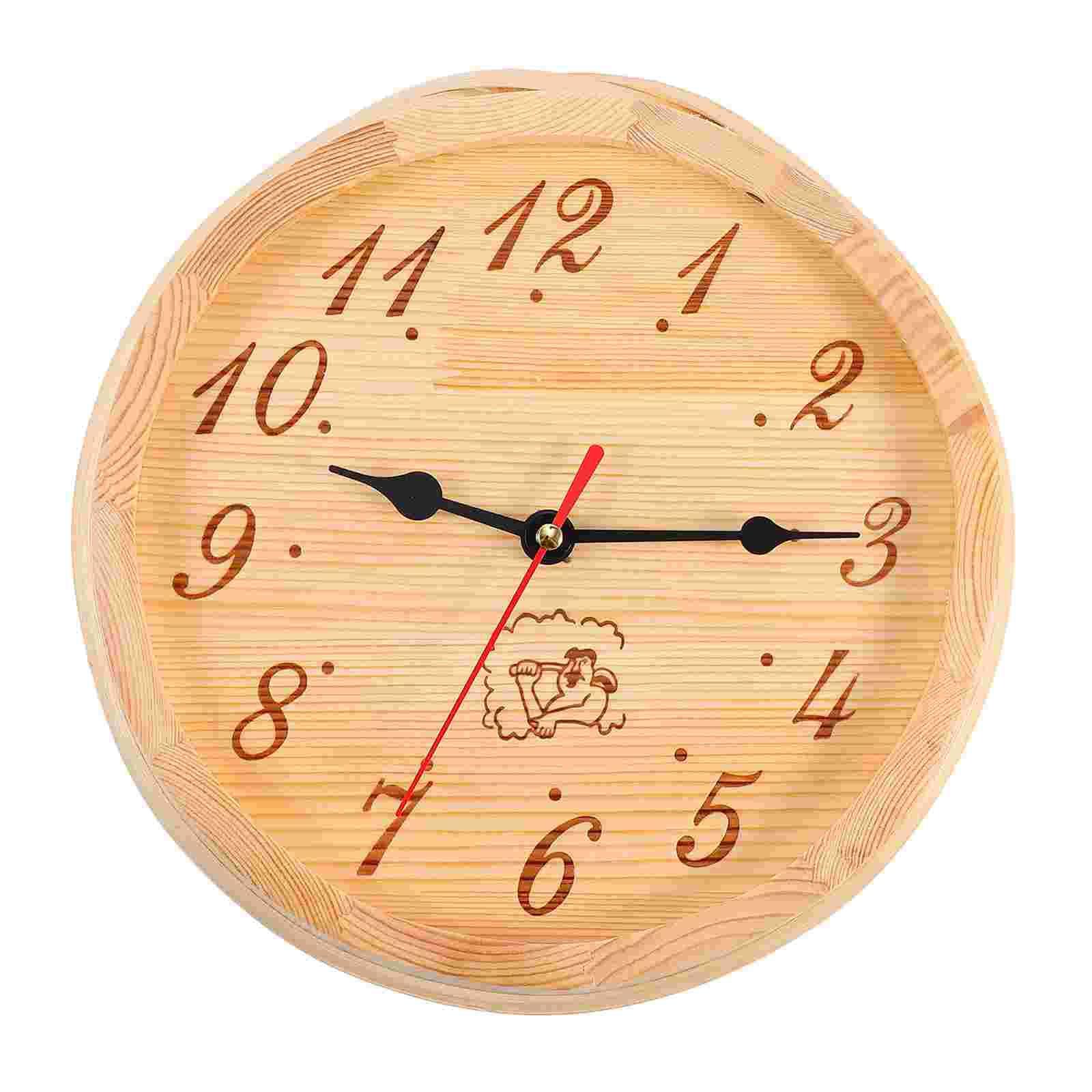 1 قطعة ساونا الحائط معلقة ساعة خشبية ديكور ساعة توقيت رملية غرفة ساونا المعدات