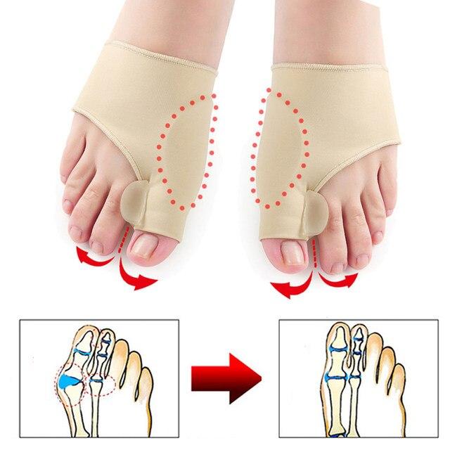 Maravilhoso! 1 par dedo do pé separador hallux valgus bunion corrector orthotics pés osso polegar correção pedicure meia alisador