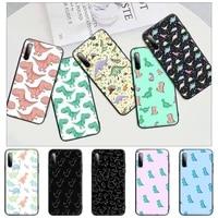 cute dinosaur baby fashion black matte phone cover for redmi s2 4x 5 5a plus 6 6a 7 7a 8 8a 9 9a case